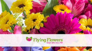 14% Off Bouquet Orders at Flying Flowers